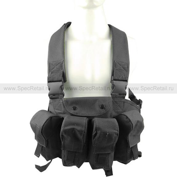 Нагрудный разгрузочный жилет для АК (Black)