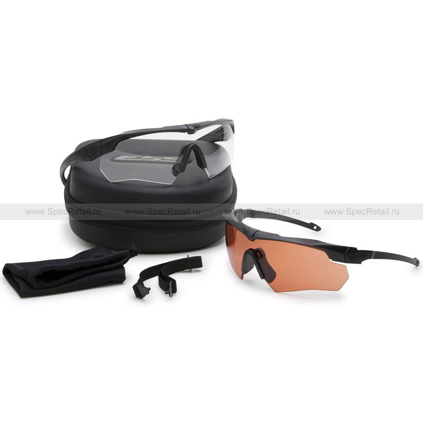 Очки ESS Crossbow Suppressor Black 2шт (прозрачные/бронзовые)