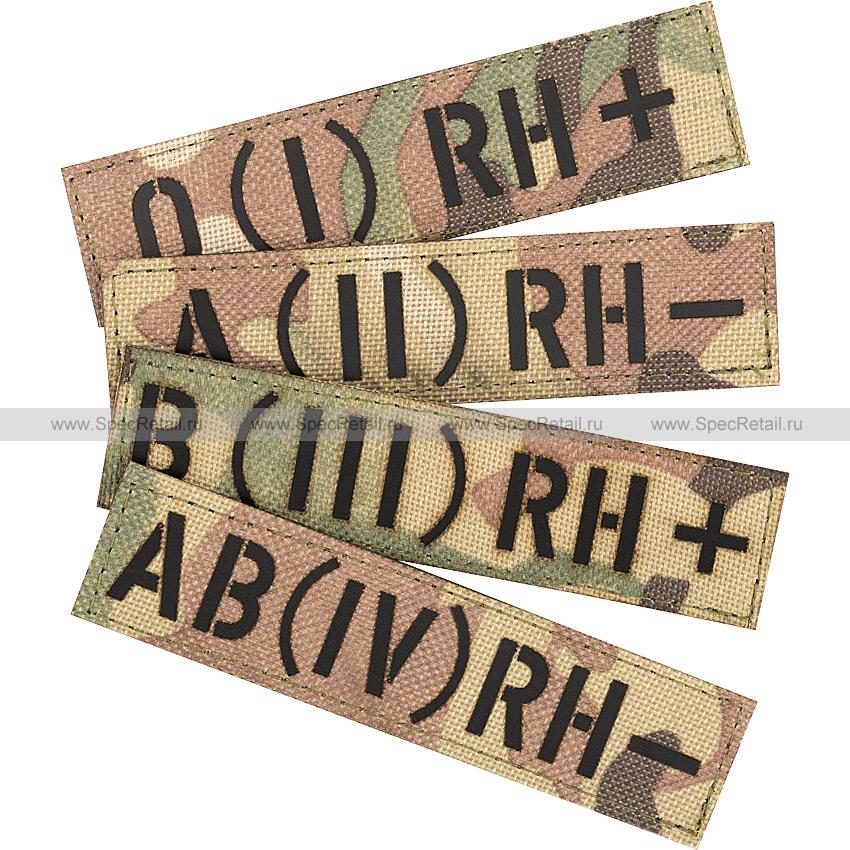 "Шеврон Call Sign Patch ""Группа крови"", Multicam, 10x2.5 см"