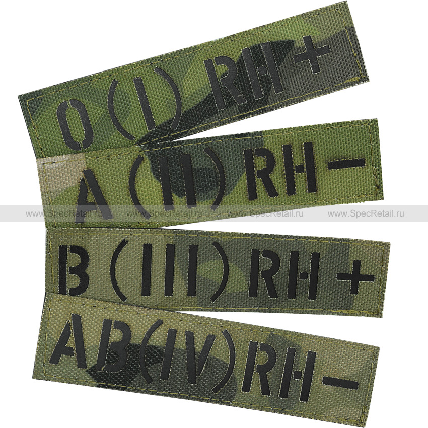 """Шеврон Call Sign Patch """"Группа крови"""", A-TACS FG, 10x2.5 см"""