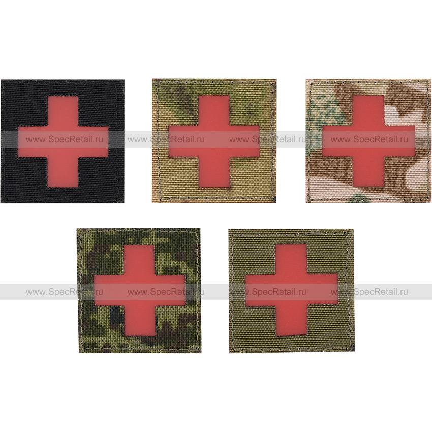 """Шеврон Call Sign Patch """"Медицинский крест"""", малый, 3.5x3.5 см"""