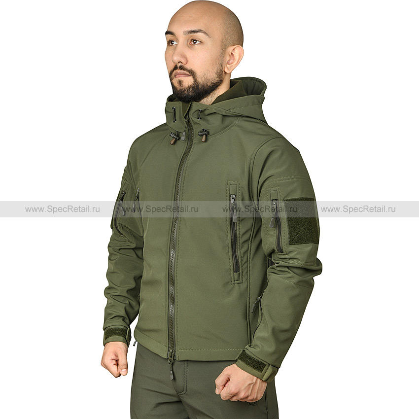 "Куртка ""Patriot"", Softshell (Keotica) (Olive)"