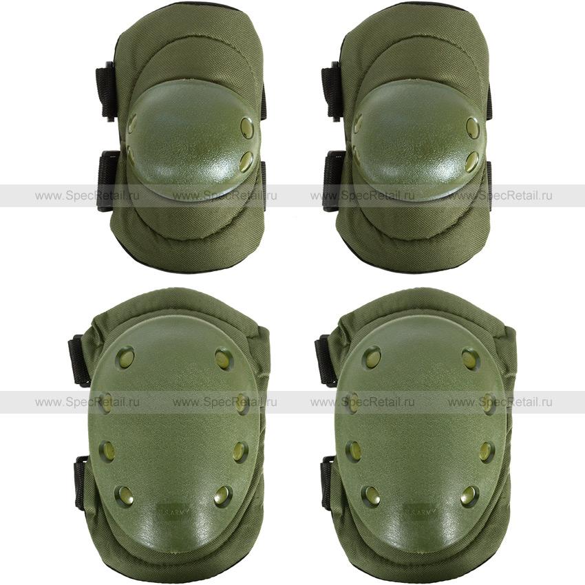 Наколенники и налокотники Army Tactical (Olive)