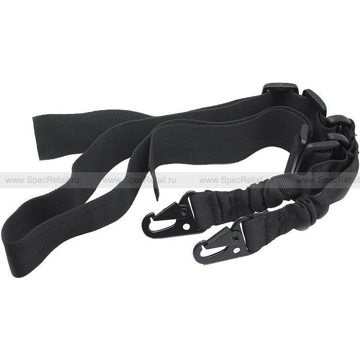 Ремень оружейный двухточечный Bungee sling (Black)