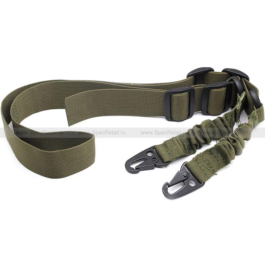 Ремень оружейный двухточечный Bungee sling (Olive)