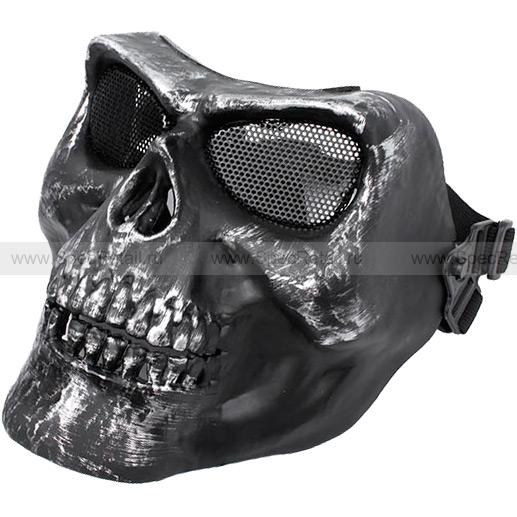 "Защитная маска ""Череп"" (Black-Silver)"