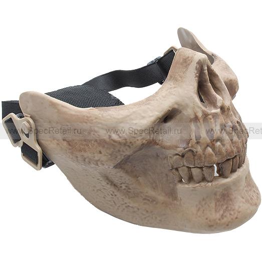 """Защитная маска """"Череп"""" на нижнюю часть лица (Brown)"""