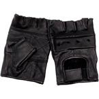 Кожаные перчатки MFH, беспалые (Black, XL)