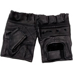 Кожаные перчатки MFH, беспалые (Black, XXL)