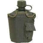 Пластиковая фляга с чехлом, 1 литр (Olive)