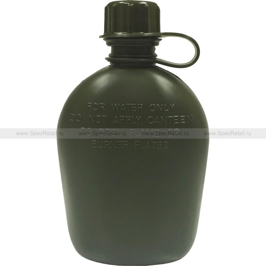 Пластиковая фляга без чехла, 1 литр (Olive)