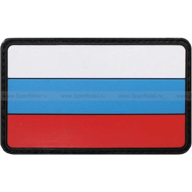 """Шеврон ПВХ """"Россия"""", 3D, 8x5 см"""