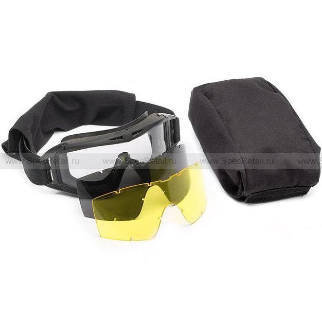 Очки противоосколочные (Daisy) Tactical (3 сменные линзы) (Black)