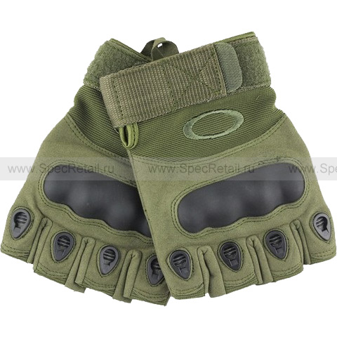Перчатки Oakley Tactical Gloves, беспалые (Olive), реплика