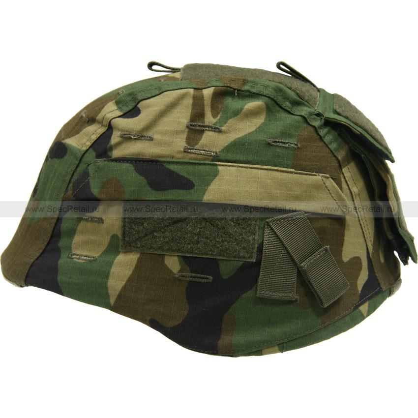 Универсальный чехол для шлема, с карманом (Woodland)