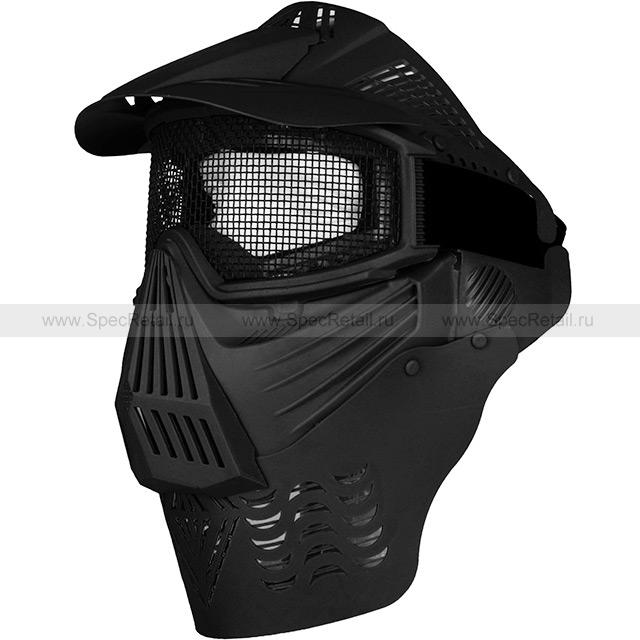 Комплексная защитная маска для страйкбола (Black)