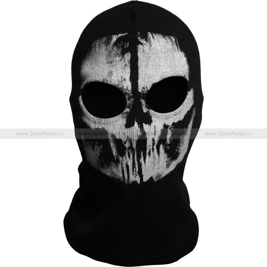 Балаклава Elias Commander, 2 отверстия (Black-White)