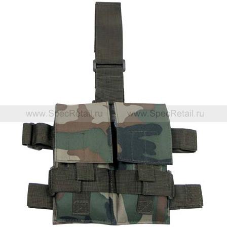 Платформа на бедро с подсумками для магазинов M4/M16 MFH (Woodland)