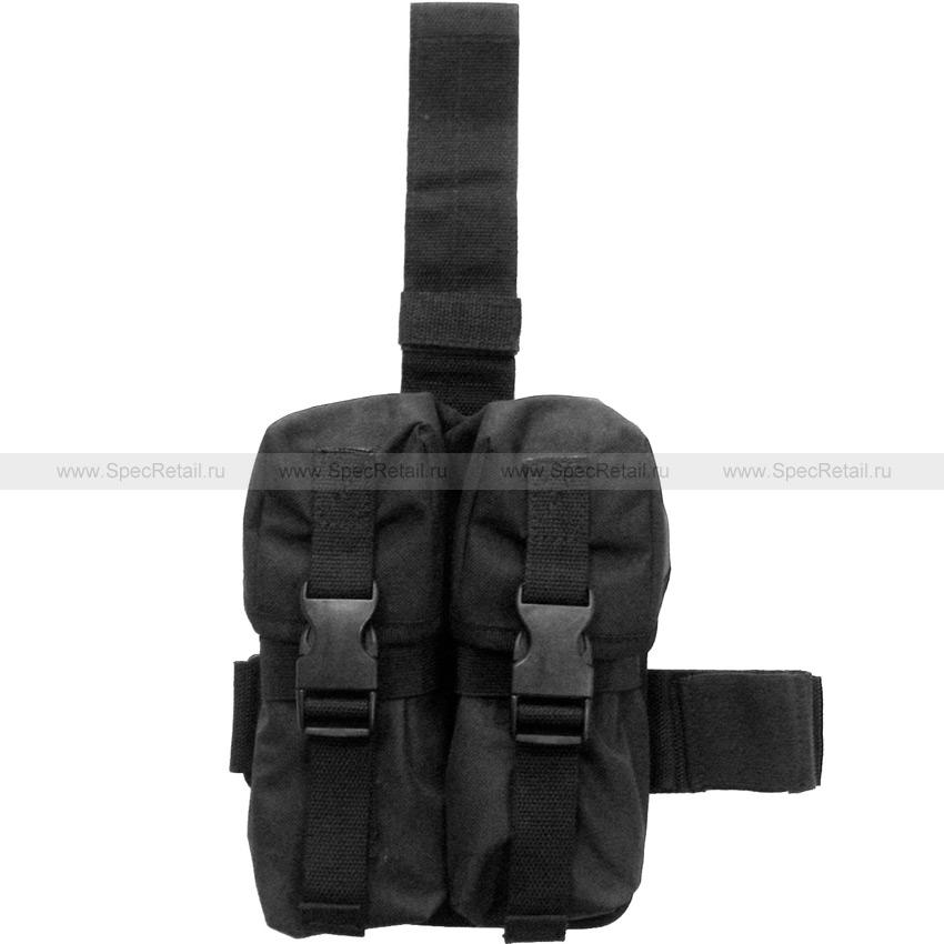 Платформа на бедро с подсумками для магазинов АК-серии (Black)