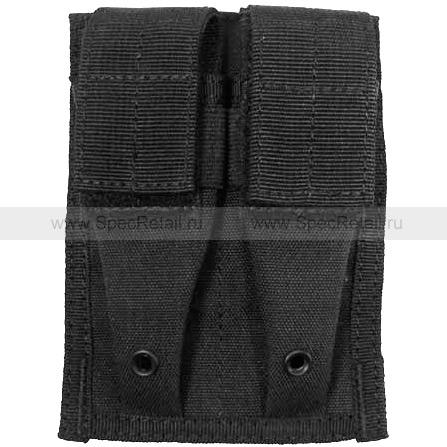 Подсумок для магазина на пистолет, двойной (Black)
