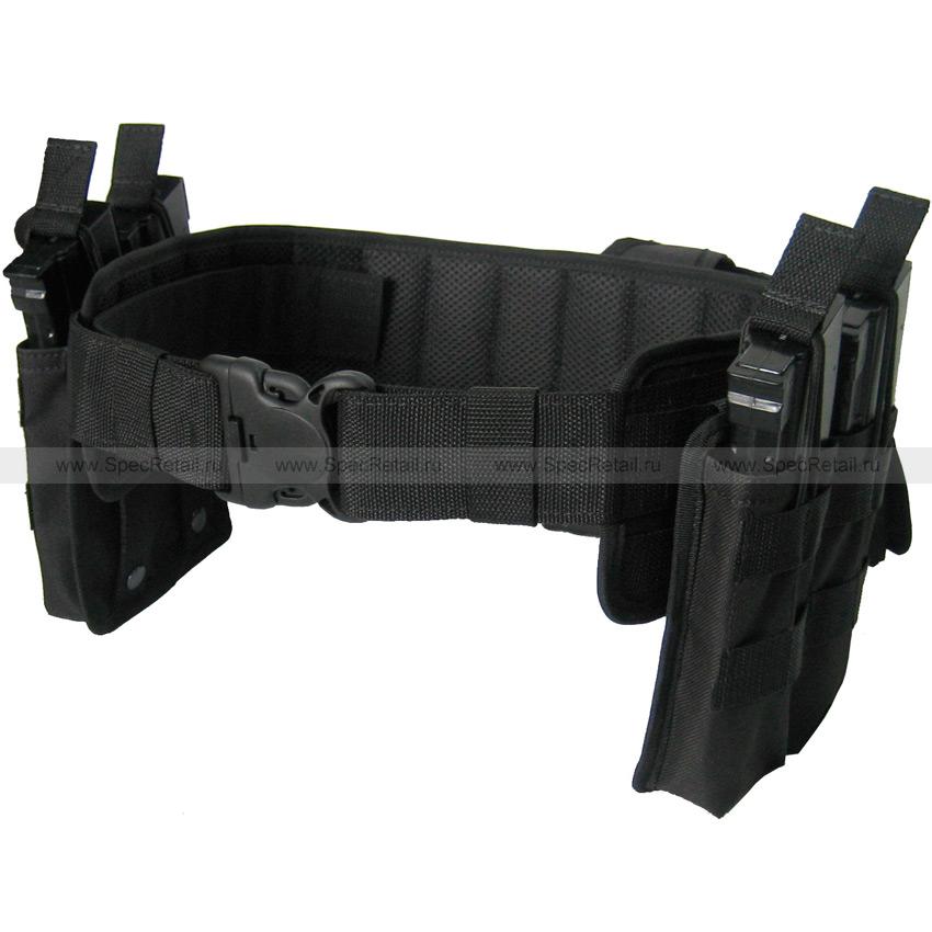Тактический пояс MOLLE ПТ-2 с подсумками (Black)