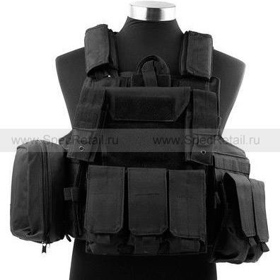 Разгрузочный жилет CIRAS с подсумками (Black)