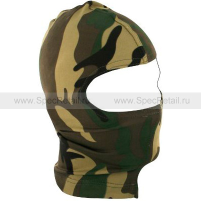 Балаклава Zan Headgear, 1 отверстие (Woodland)