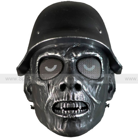 "Защитная маска ""Ходячий"" (Black-Silver)"