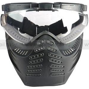 """Тактические очки-маска с вентилятором """"Heaven"""" (Black)"""