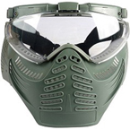 Тактические очки-маска с вентилятором
