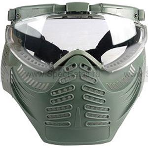 """Тактические очки-маска с вентилятором """"Heaven"""" (Olive)"""