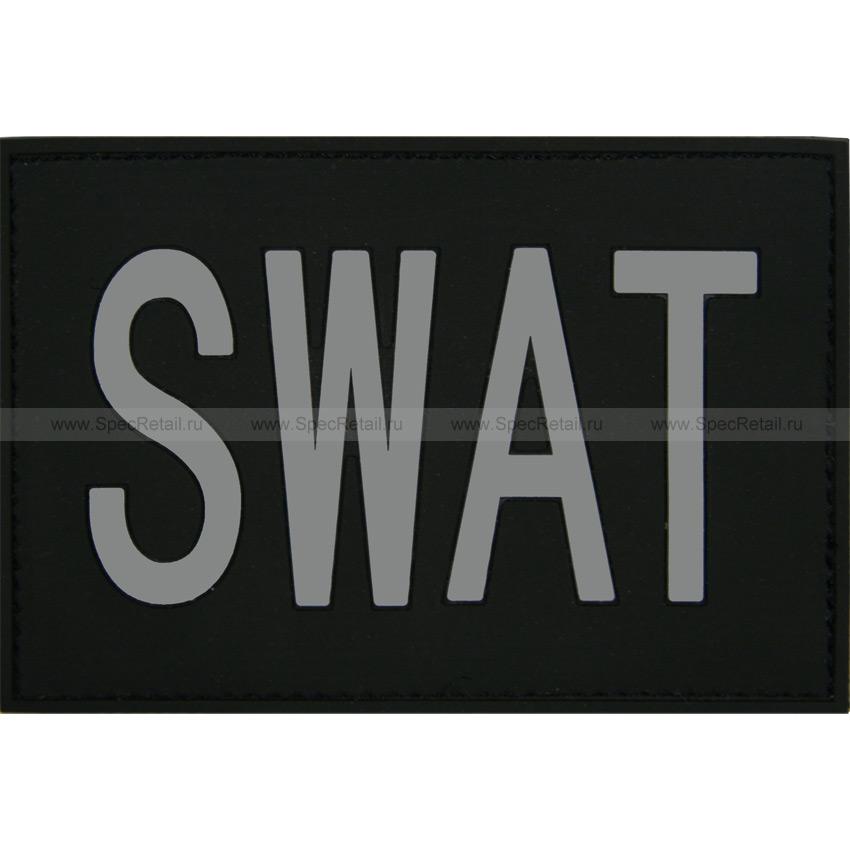 """Шеврон ПВХ """"SWAT"""", 7.9x5.4 см"""