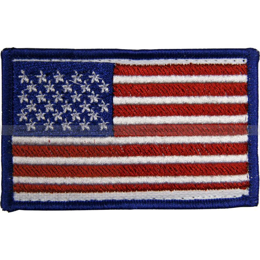 """Шеврон текстильный """"Флаг США"""", 8.2x5.3 см"""