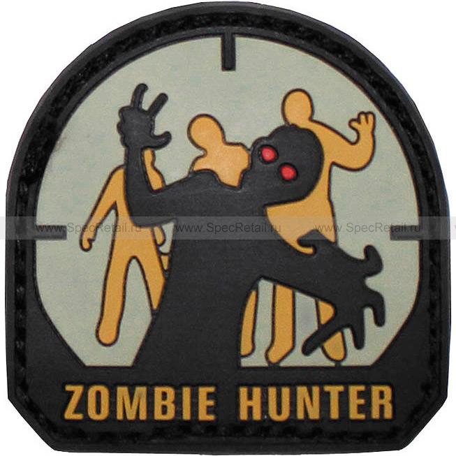 "Шеврон ПВХ ""Zombie Hunter"", чёрный, 5x5 см"