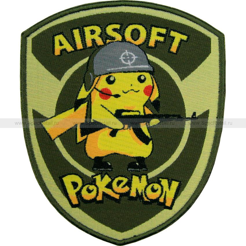 "Шеврон текстильный ""Airsoft Pokemon"", 9.7x11.7 см"