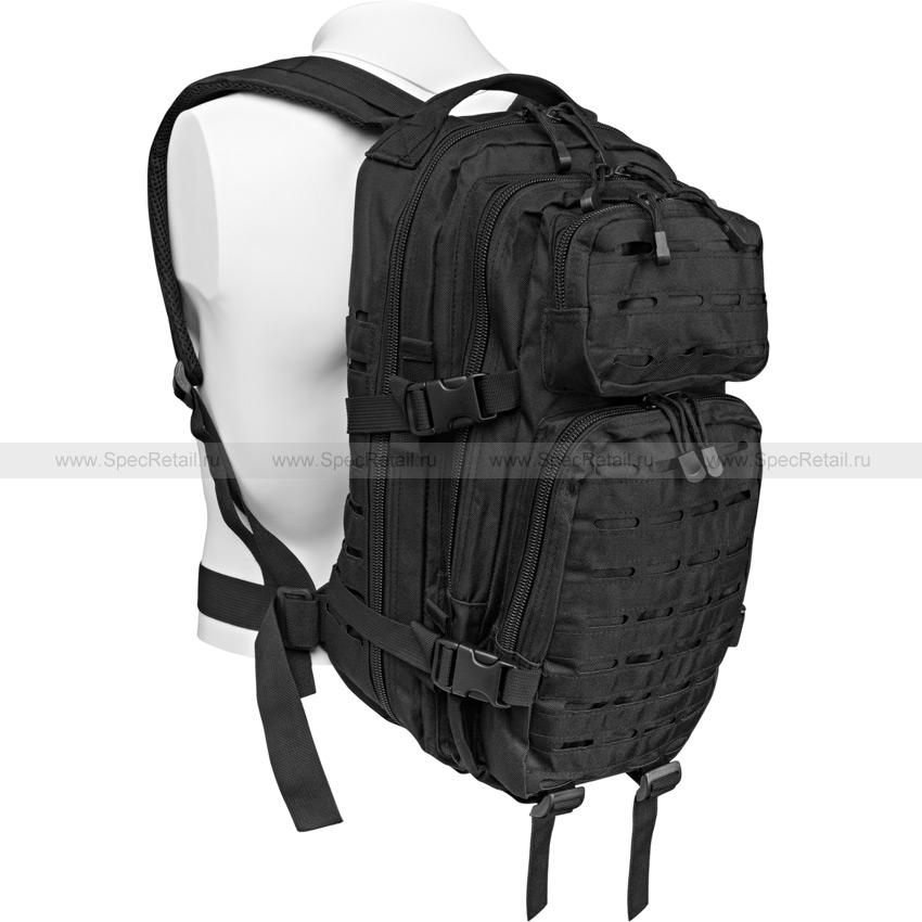 """Военный рюкзак """"US Assault I"""", Laser cut, 30 литров (Black)"""