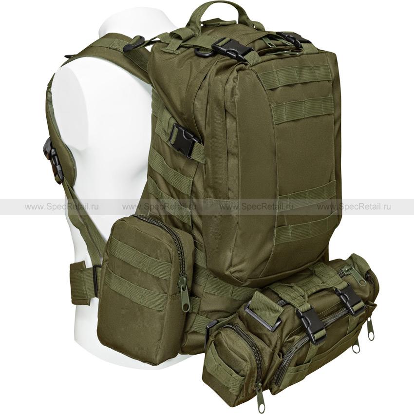"""Тактический рюкзак """"3 Day Assault Tactical Backpack"""" 50 литров (Olive)"""
