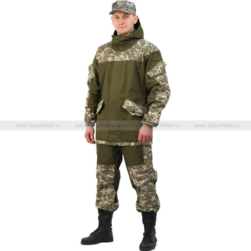 """Костюм мужской """"Горка 3"""", палаточное полотно (Ursus) (Зеленая цифра)"""