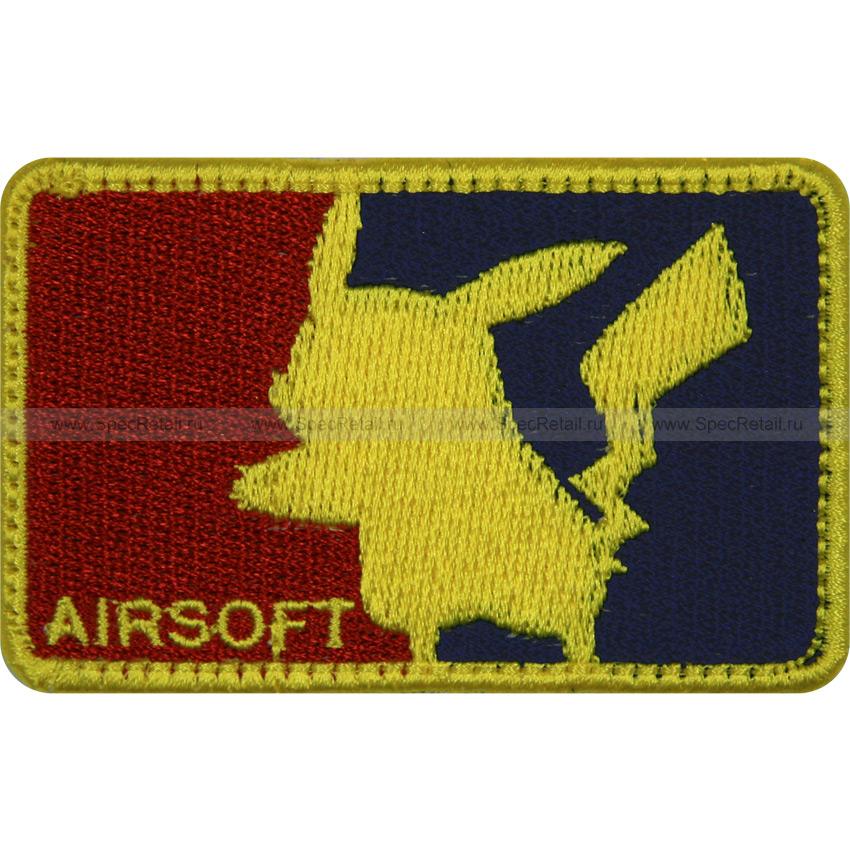 "Шеврон текстильный ""Airsoft Pokemon"", малый, 7.4 x 4.6 см"