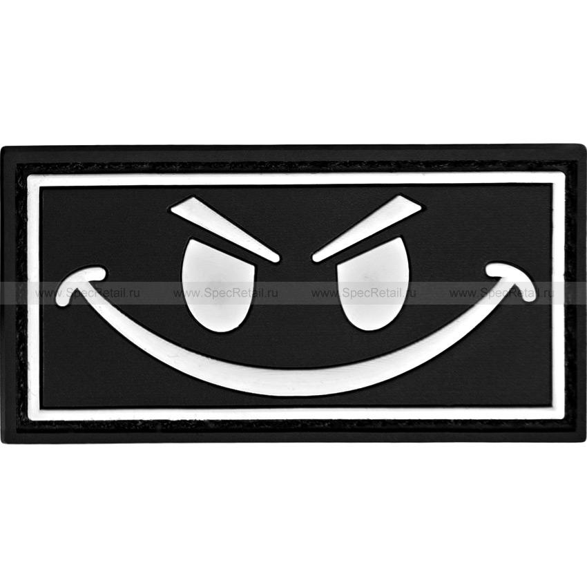 "Шеврон ПВХ ""Smile"", черный, 6 x 3 см"