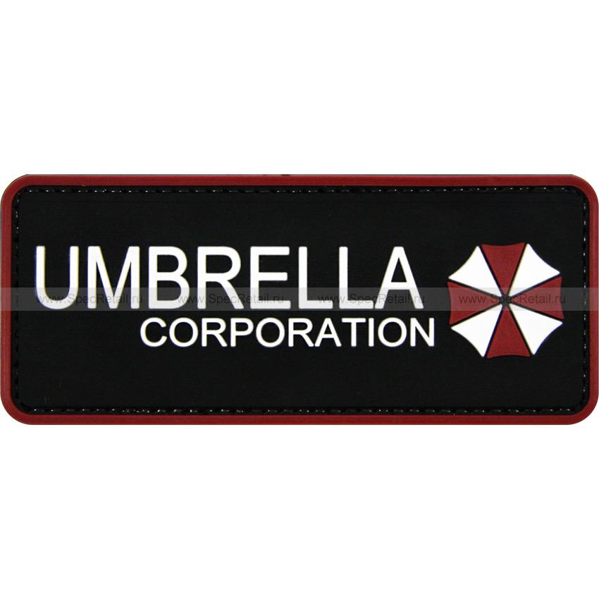 """Шеврон ПВХ """"Umbrella Corporation"""", 12 x 5 см"""