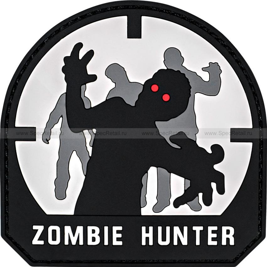 """Шеврон ПВХ """"Zombie Hunter"""", acu, 7x7 см"""