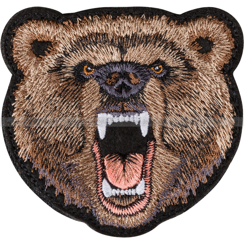 """Шеврон текстильный """"Медведь"""", 8.8 x 8.8 см"""