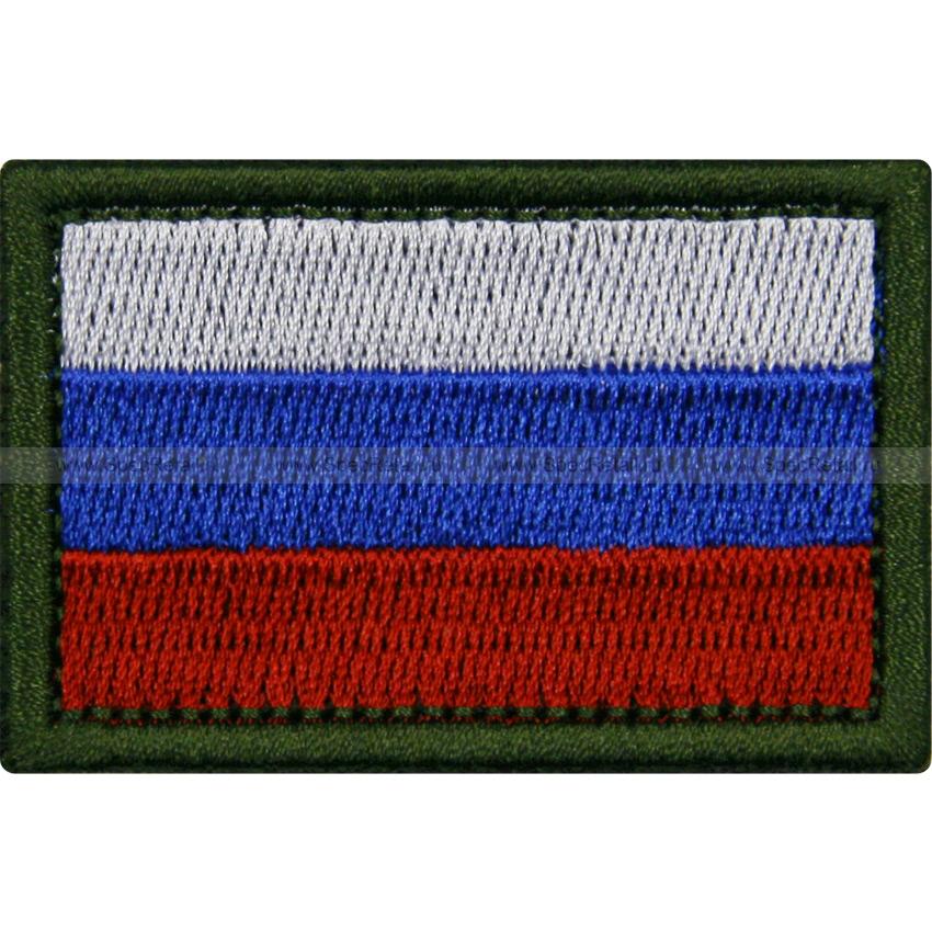 """Шеврон текстильный """"Триколор РФ"""", полноцветный, 6 x 4 см"""