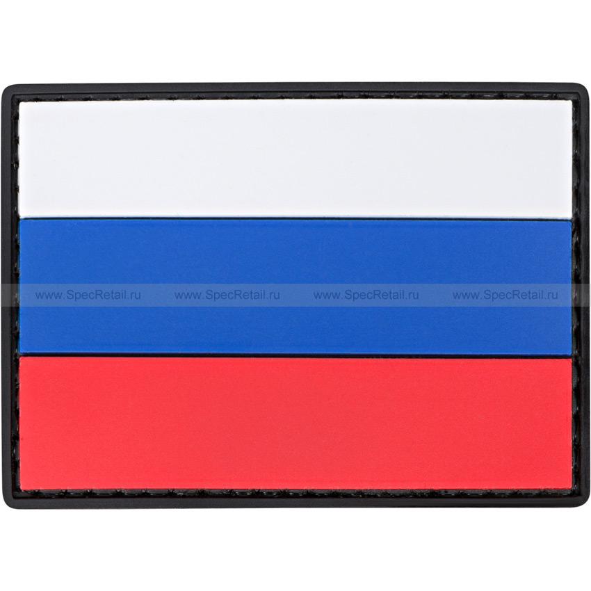 """Шеврон ПВХ """"Флаг России"""", 7 x 5 см"""