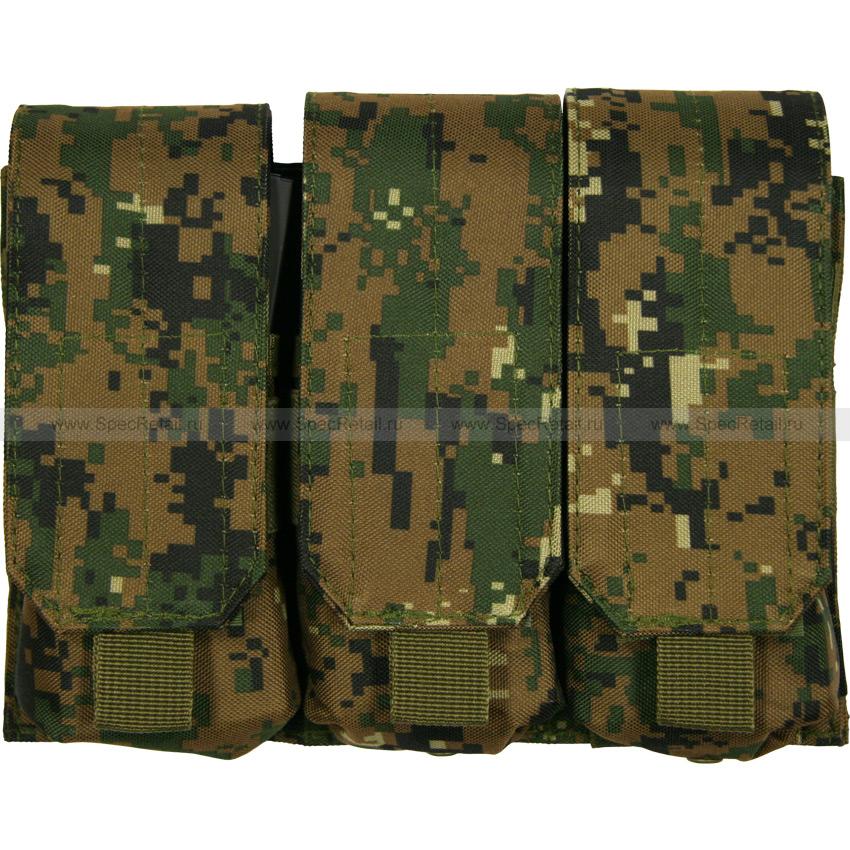 Подсумок для магазинов M4/M16, тройной (Digital Woodland)