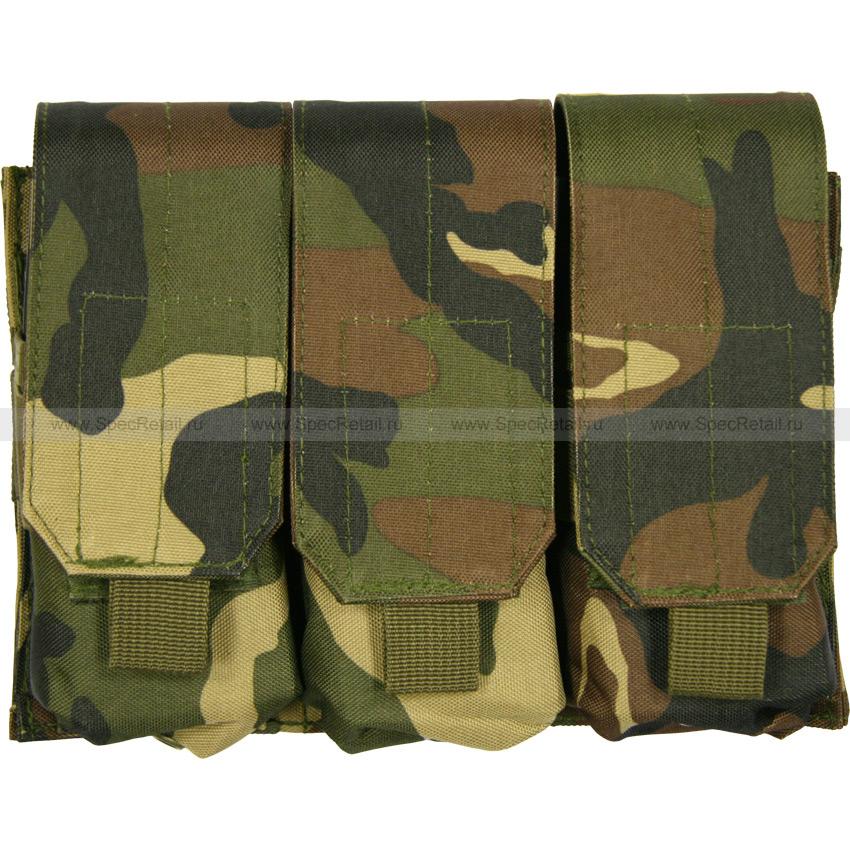 Подсумок для магазинов M4/M16, тройной (Woodland)