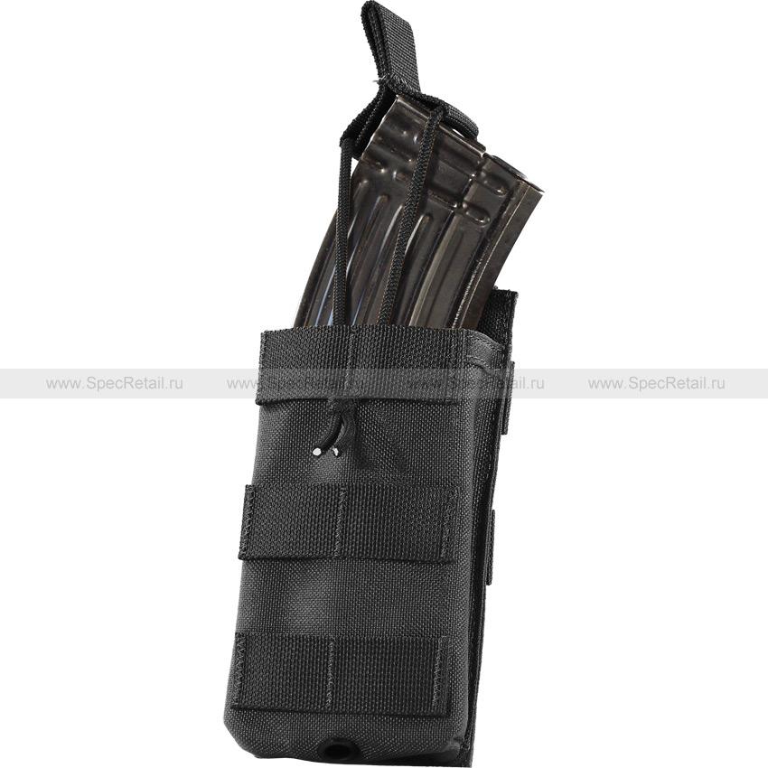 Подсумок под 1 магазин М/АК серии, резинка (WARTECH) (Black)