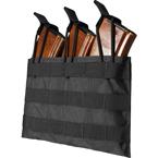 Подсумок под 3 магазина М/АК серии, резинка (WARTECH) (Black)