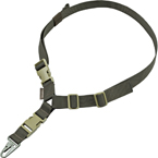 Ремень оружейный одноточечный с фастексом для сброса, жесткий (WARTECH) (Olive)